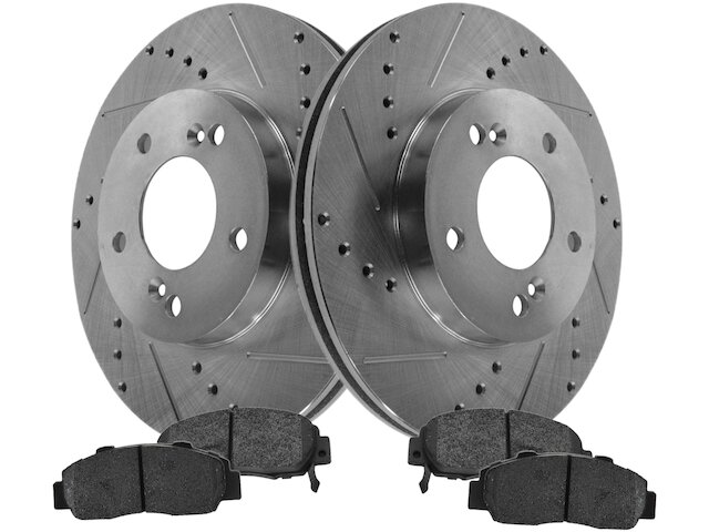 AutoShack R4298PR Pair of 2 Front Driver and Passenger Side Disc ...
